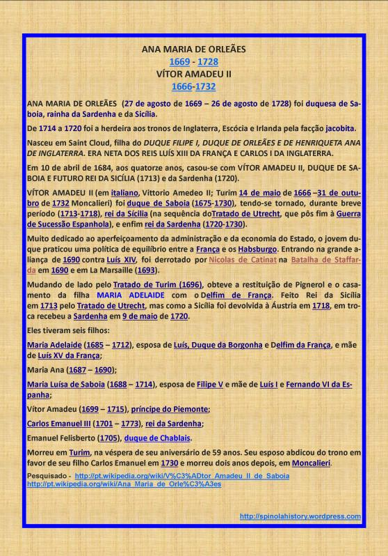 BIOGRAFIA DE ANA MARIA DE ORLEANS E VICTOR AMADEU II